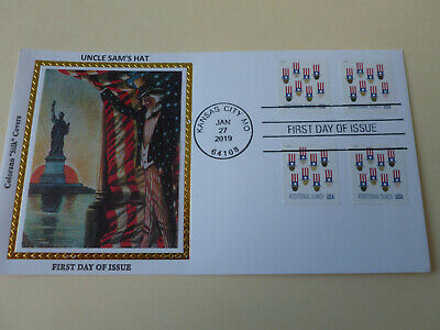 Uncle Sam's Hat 2019 Four Coil Stamp Combo Fdc Sc#5341 Colorano (Variety #4) - Uncle Sam Assortment
