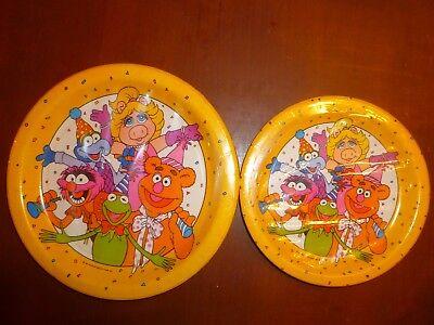 Muppets Party Supplies (MUPPETS PARTY PLATES  (SET OF 2)  1 DINNER & 1 DESSERT  MISS PIGGY/KERMIT)