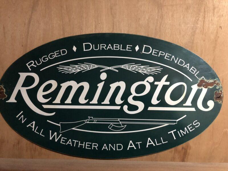 Remington Guns Rifles Logo Metal Sign Dependable Rugged 1816