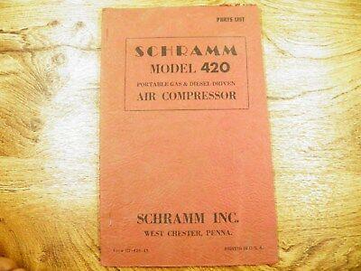 Schramm 420 Air Compressor Gas And Diesel Parts List