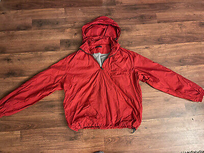 Zegna Sport Mens Hooded Jacket Size M Full Zip Wind Breaker Casual Red Microlite