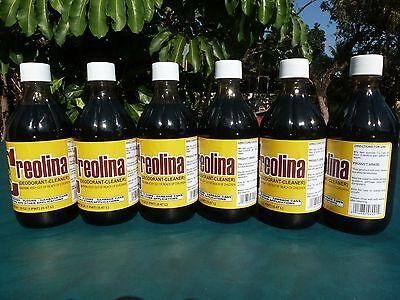 Animal Quarters Cleaner Odor Remover CREOLINA Coal Tar Deodorant Six (6) Bottles