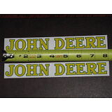 "2 STICKERS JOHN DEERE 1"" x 7.75"" LONG VINYL STICKER DECAL FARM TRACTOR GATOR NEW"