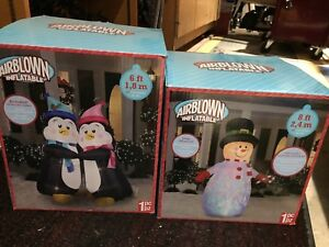 Snowman and Penguins inflatables