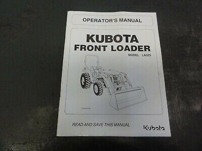 Kubota La525 Front Loader Operators Manual