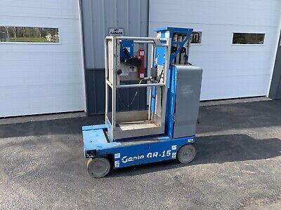 2012 Genie Gr15 Gr-15 Vertical Lift Scissor Lift Man Basket All New Batteries