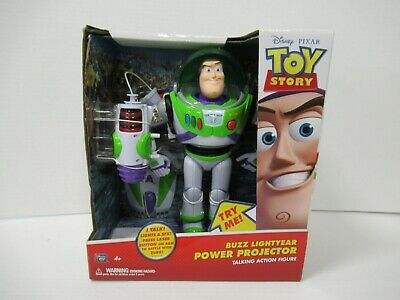 """BUZZ LIGHTYEAR Power Projector Talking 12"""" Action Figure Toy Story WORKS NIB! ZQ for sale  Shipping to India"""