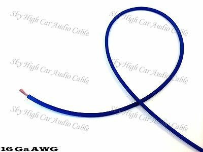 100 ft 16 Gauge AWG Primary / Remote Wire BLUE Sky High Car Audio Lead Ga Feet