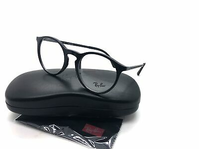 Ray-Ban RB 7132 2000 Round Eyeglasses Optical Frames Glasses Gloss Black ~ (Ray Ban Round Black Glasses)