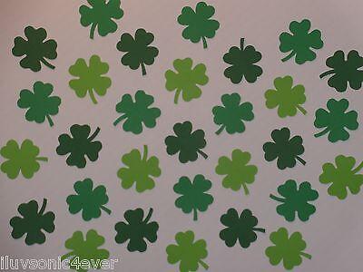 """30 4-leaf clover die cuts  1 1/4""""  St. Patrick"""
