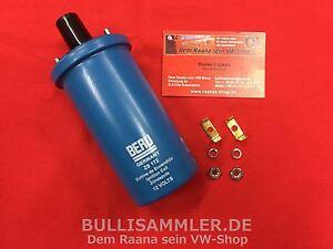 Beru Hochleistungszündspule Zündspule 12V VW Käfer Bus (-379) ers Bosch blau