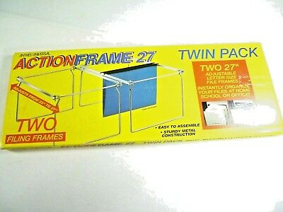 Action Frame 27 Hanging File Folder Brackets Twin Pack Anthes Letter Twin Pack