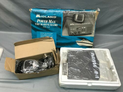 Vintage NEW IN BOX MIDLAND VHF Marine Radio Model 78-101 16 Channel 25 Watts