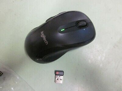 Logitech M510 Wireless Large Mouse Black~SLIGHTLY USED ~FREE SHIP. USB. See desc