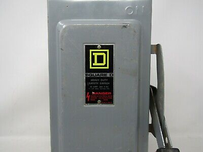 Square D H321n 30 Amp 240 Volt Fusible Indoor Disconnect