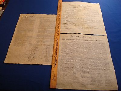 Declaration  Constitution  Bill Of Rights  Replicas   Historical Documents