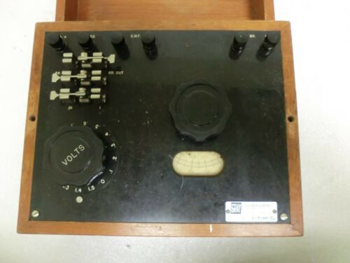Antique Vintage Grey Instruments E-3044-CL E-3044 Device Wood Box
