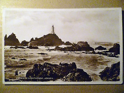 184B. Corbiere Lighthouse,  Channel Islands:Jersey: Vintage RP Postcard