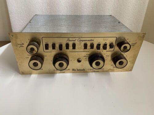 RARE McIntosh C8S Record Compensator - Mono Tube Preamp - AS IS
