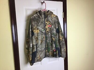 Under Armour Storm 1 cold gear women's camouflage full zip hooded jacket Large