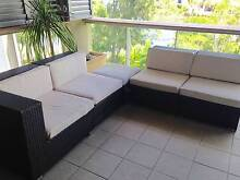 Contemporary Outdoor Rattan Modular Lounge Set Twin Waters Maroochydore Area Preview