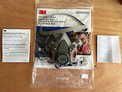 3m 620007025 Medium Half Face Respirator New In Bag