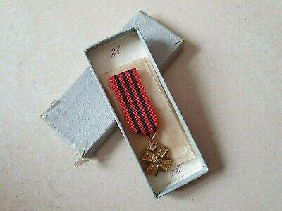 Mini médaille décoration militariat CIVIQUE 1ère CLASSE Belgique Medal Medaglia
