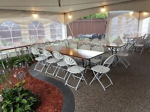 JH Special Events: Party & Tent Rentals, including chairs