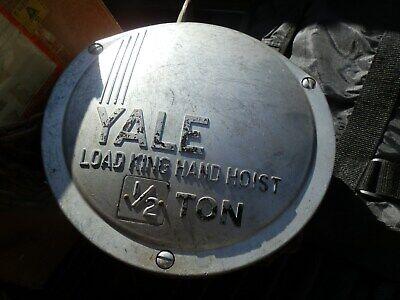 Yale Load King Hoist 12 Ton Hand Hoist With Hooks And Chainheavy Duty Works