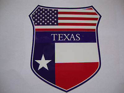 2 TEXAS STATE FLAG SHIELD CARWINDOW STICKERS MUSTANGS MAVERICKS LONE STAR USA