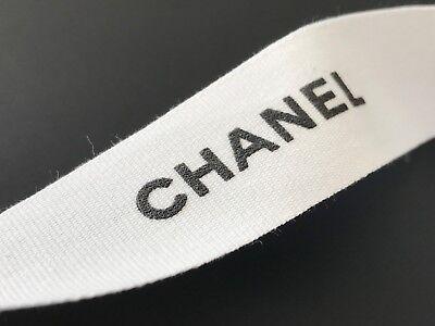 CHANEL Classic White Cotton Logo Ribbon