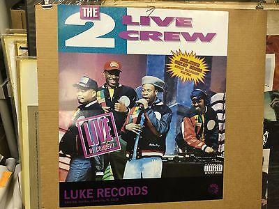 "The 2 Live Crew ""live in concert"". Luke Records promo poster."