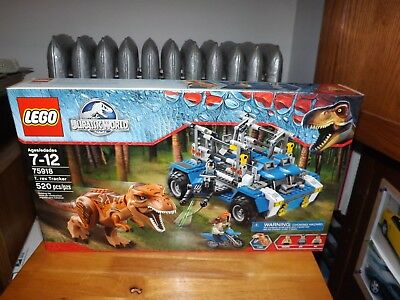 LEGO, JURASSIC WORLD, T REX TRACKER, KIT #75918, 520 PIECES, NEW IN BOX, 2015