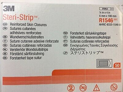 3m Steri Strips R1546 Skin Closures 50 Per Box