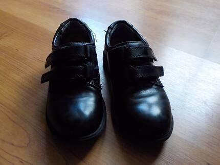 Boys Black Formal Shoe - Velcro straps - Size 12