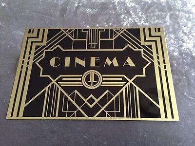 Cinema Art Deco Cinema Sign