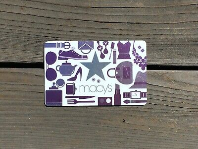 Macy s Gift Card 50 Fifty Dollar Value Brand New Free Shipping  - $45.00