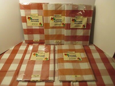 NIP Thanksgiving Fall Brown Plaid Vinyl Flannel Backed Kitchen Party Tablecloth - Thanksgiving Parties