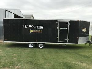 MTI Snowmobile/ Quad 4 place Trailer 8.5 x 27 ' Black