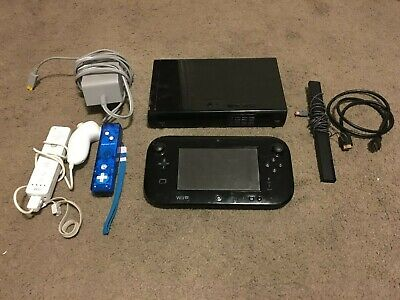 Nintendo Wii U 32GB Black Handheld System - w/ Extra Wii Controllers