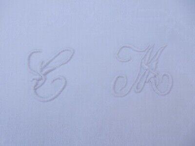 1900 ERA BELLE EPOCH  MONOGRAMMED TOWEL INITIAL CM  VINTAGE LINEN HAND TOWEL g