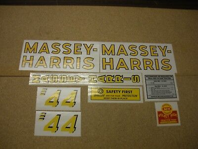 Massey Harris 44 Tractor Decal Set - New - Free Shipping