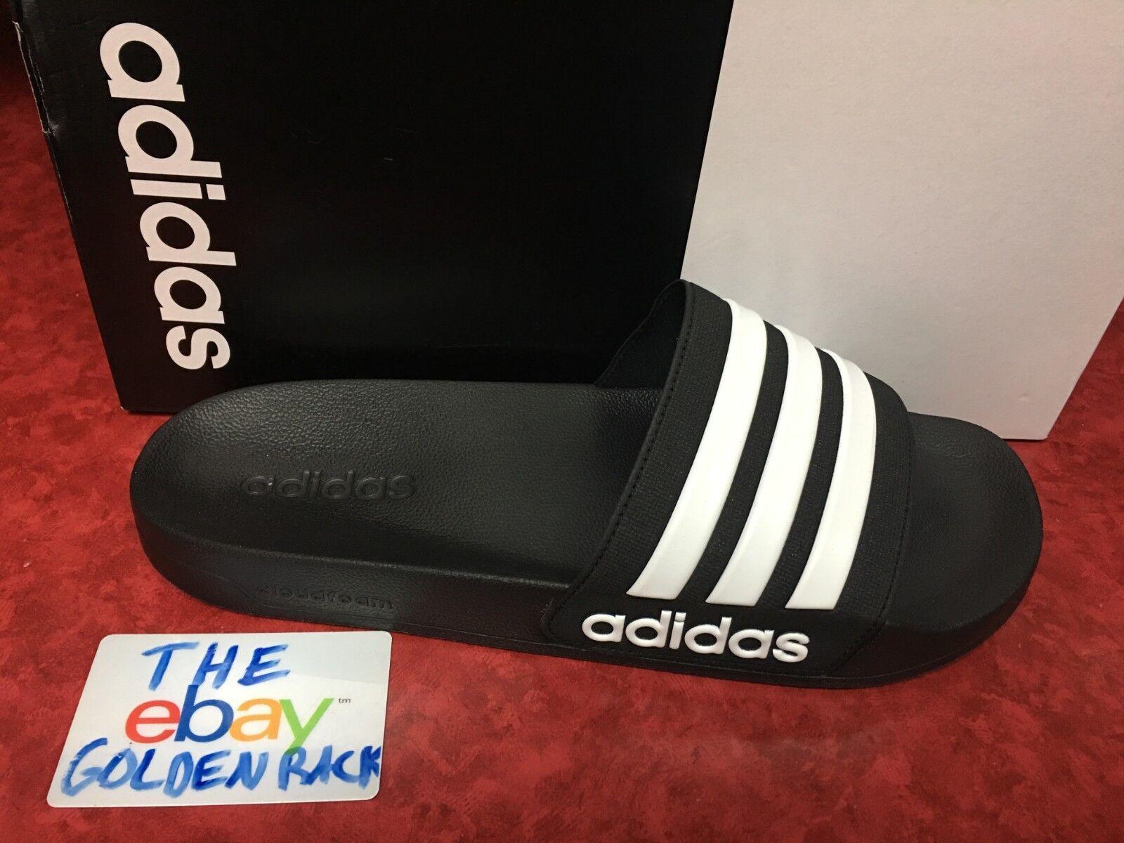 Adidas CF Adilette Slides Sandal Slippers AQ1701 Black/White