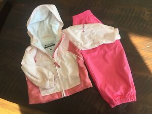Spring Columbia jacket and splash pants 2t