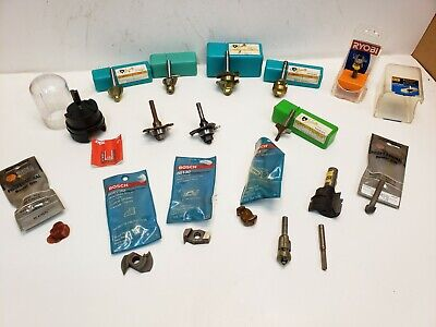 Lot Of Assorted Router Bits 12 And 14 Shank Bosch Ryobi Skil Grizzly...