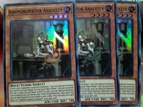 Yugioh Adamancipator Analyzer X3 Super MP21-EN226 1st Near Mint Playset