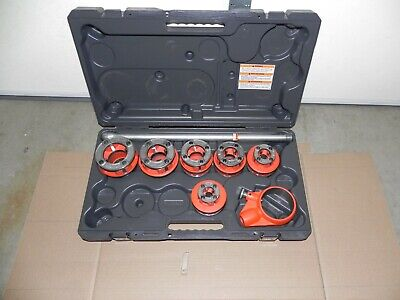 New Ridgid 12r 12-2 Npt Set 6 Heads 36475 For Use W. 700300 W. Case Pls Read