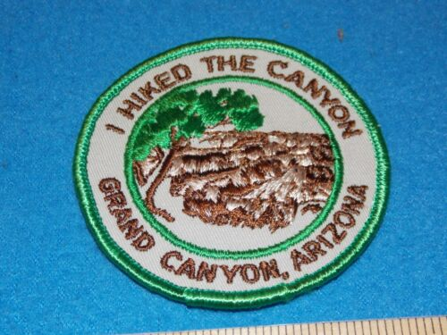 VINTAGE - I HIKED THE CANYON GRAND CANYON ARIZONA PATCH  - MINT