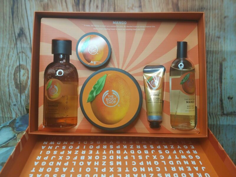 The Body Shop Mango Set Collection Gift Set Brand New 5 Piece Set