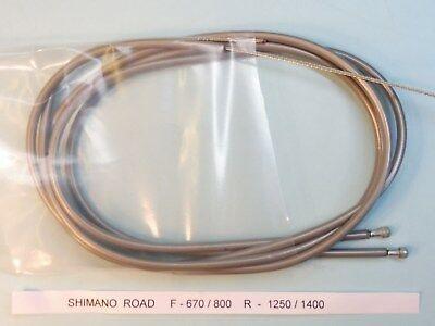 Shimano 105 SLR Freno Juego Cables (Gris) - Bicicleta / NOS